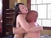 【近親相姦】美乳で色白な美人妻が、倒れて寝込んでいる旦那の代わりに義父と何度も濃厚中出しセックスしまくっちゃう!